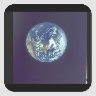 Earth. (earth;planet_Space Square Sticker