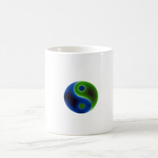 Earth eco symbol mug
