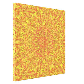 EARTH Element Contours Pattern wrapped canvas