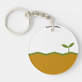 Earth element Double-Sided round acrylic key ring