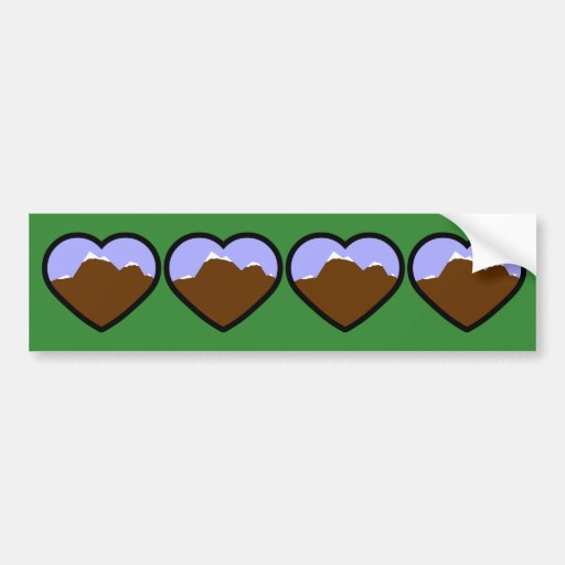 Earth Elemental Heart Bumper Sticker