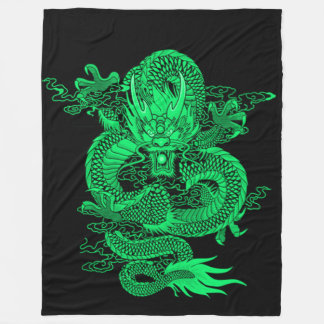 Earth Emperor Dragon Fleece Blanket
