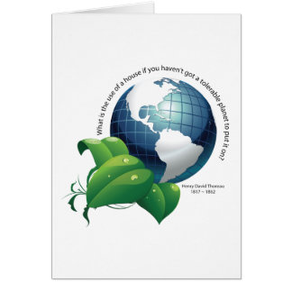 Earth Environment ~ Henry David Thoreau Quote Card