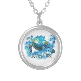 Earth First Silver Plated Necklace
