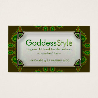 Earth Forest Green Goddess Style Business Cards