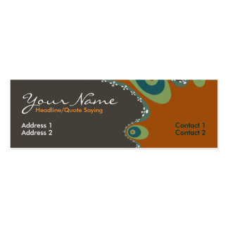 Earth fractal Profile Card Pack Of Skinny Business Cards