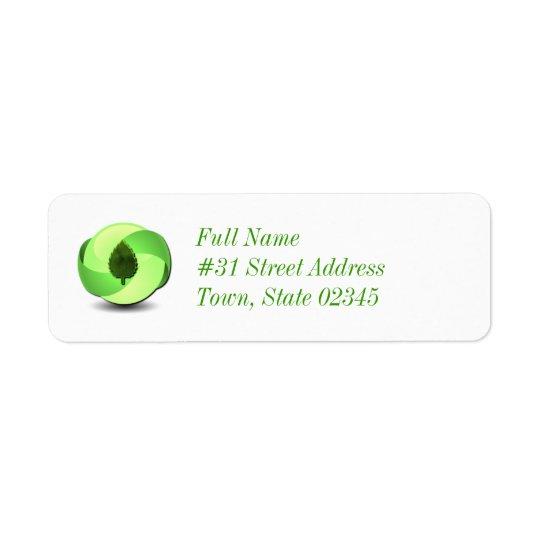 Earth Friendly Return Address Label