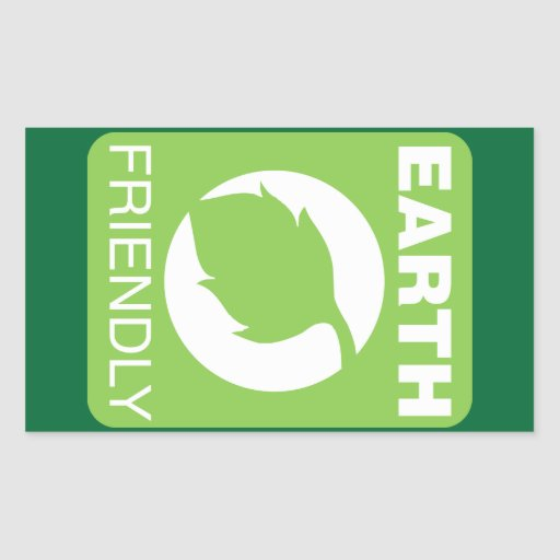 Earth Friendly Rectangle Stickers