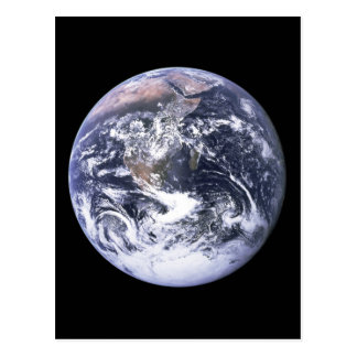 Earth from Apollo 17 Postcard