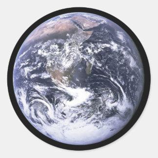 Earth from Apollo 17 Round Sticker