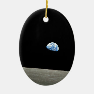 earth from moon space universe ceramic ornament