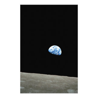 earth from moon space universe stationery