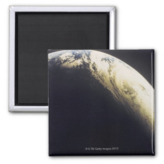 Earth from Outer Space 3 Square Magnet