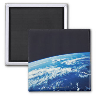 Earth from Space 17 Square Magnet