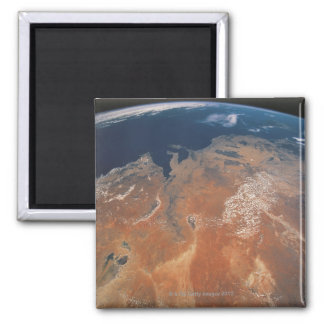 Earth from Space 24 Square Magnet