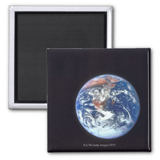 Earth from Space 33 Square Magnet