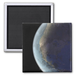 Earth from Space 6 Square Magnet