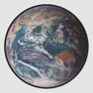 Earth From Space Classic Round Sticker