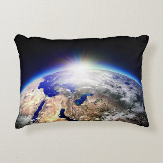Earth from space decorative cushion