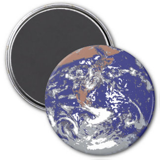 Earth from Space for the Nerd Geeks 7.5 Cm Round Magnet