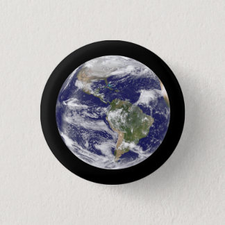 Earth from Space Photographic Round Globe 3 Cm Round Badge