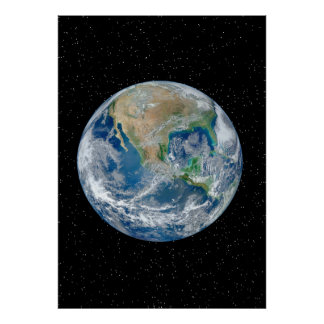 Earth From Space - Resizeable Poster