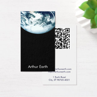 Earth from Space w/ QR Code Business Card