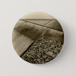 Earth from the air 6 cm round badge