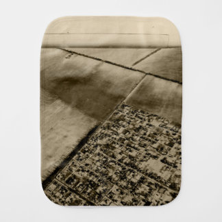 Earth from the air burp cloth