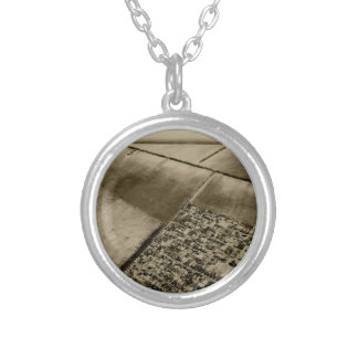 Earth from the air silver plated necklace