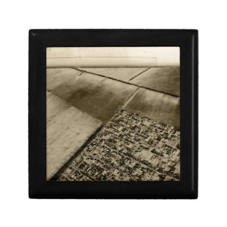 Earth from the air small square gift box