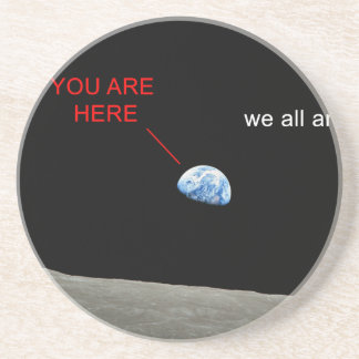Earth from the Moon - You are young stag Beverage Coasters