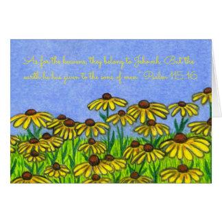 Earth Given~Sons Men~Scripture~Black Eyed Susans Card