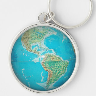 Earth Globe 1 Key Ring