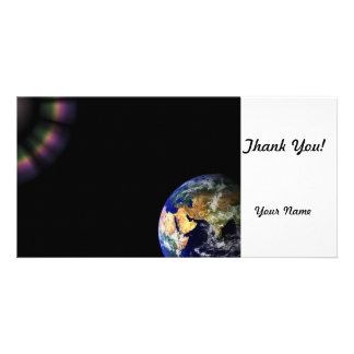Earth Globe Space Customised Photo Card