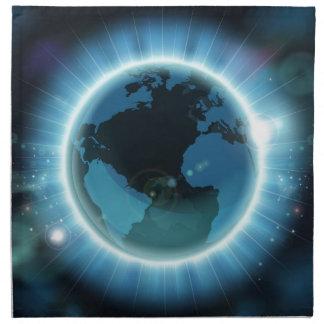 Earth Globe World Background Napkin