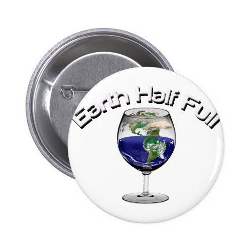 Earth Half Full and Ai Explore Pinback Buttons