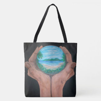 Earth Hands Tote Bag
