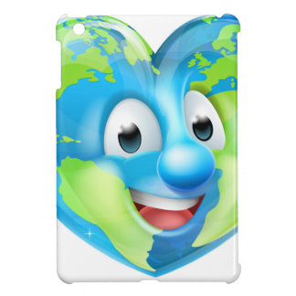 Earth Heart Globe Cartoon Character Case For The iPad Mini