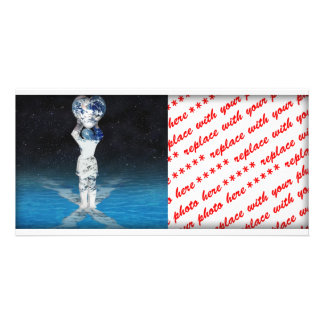 Earth Heart Holder With Water Photo Greeting Card