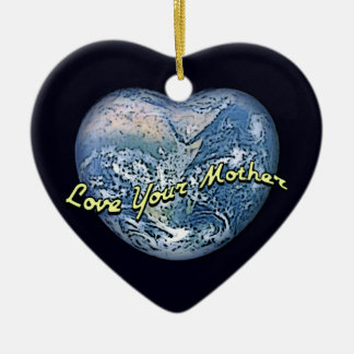 Earth Heart: Love Your Mother Ceramic Heart Decoration