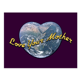 Earth Heart Love Your Mother Postcard