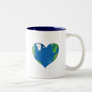 earth heart Two-Tone mug