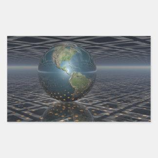 Earth Horizons Rectangular Stickers