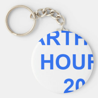 Earth Hour 2011 Basic Round Button Key Ring