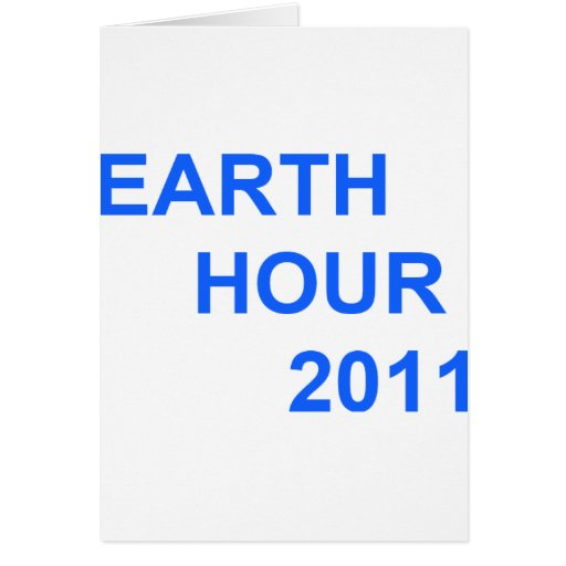 Earth Hour 2011 Cards