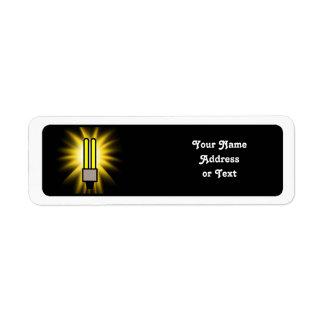 Earth Hour - 2u Light Bulb Return Address Label