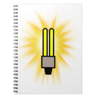 Earth Hour - 2u Light Bulb Spiral Notebook