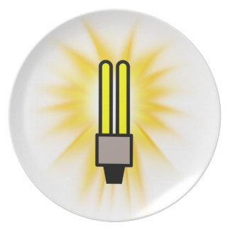 Earth Hour - 2u Light Bulb Dinner Plates