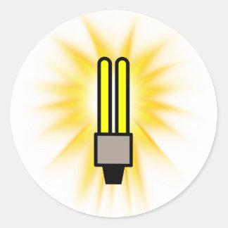 Earth Hour - 2u Light Bulb Round Sticker